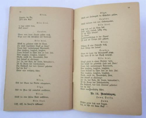 antiguo libreto en aleman opereta die dollarprinzessin 1907