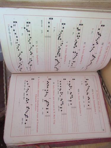 antiguo libro de canticos de misa