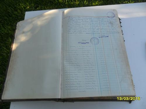 antiguo libro de cuentas contador almacen 500 páginas año 68