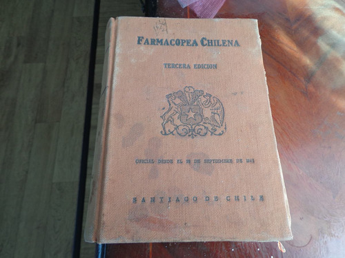 antiguo libro farmacopea chilena