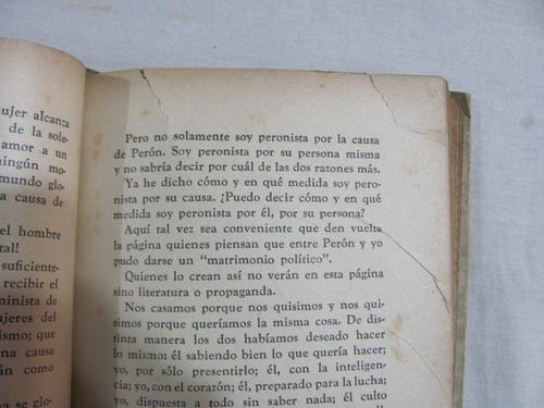 antiguo libro la razon de mi vida. eva peron