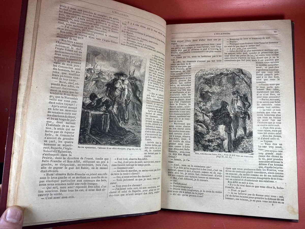 Antiguo Libro Les Trappeus Arkansas Siglo 19 Ilustrado 230000