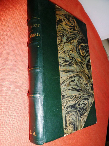 antiguo libro salambó flaubert 1907- madrid encuadernado