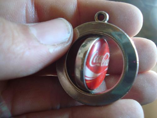 antiguo llavero giratorio coca cola propaganda gaseosa