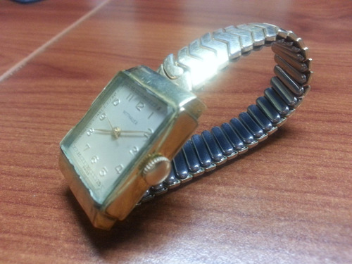 antiguo longines wittnauer swiss vintage 17 jewels años 50s