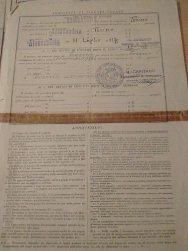 antiguo lote de documentos militares italianos mussolini