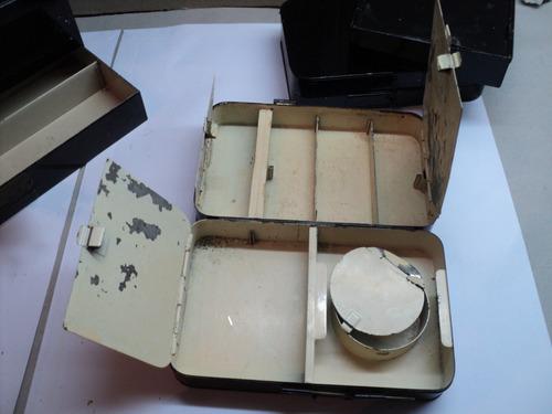 antiguo lote pesca latas anzuelos mosca  hardy england 1930