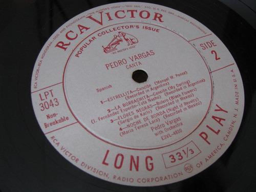 antiguo lp pedro vargas canta rca victor editado en usa