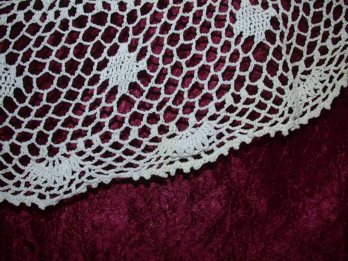 Antiguo mantel en crochet redondo en mercado - Mantel de crochet ...
