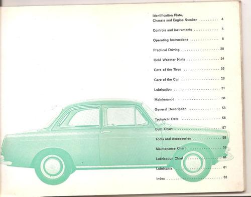 antiguo manual de  volkswagen 1500 n  -original en ingles