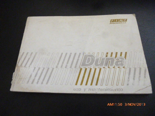 antiguo manual del propietario fiat duna - (c-11
