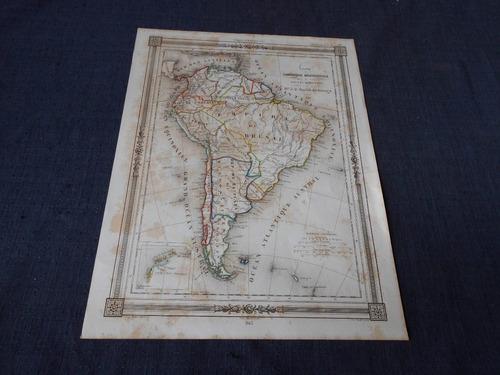 antiguo mapa    amerique meridionale    de barbie du bocage
