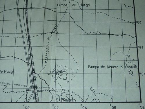 antiguo mapa ampliación la joya ferrocarril sur perú arequip