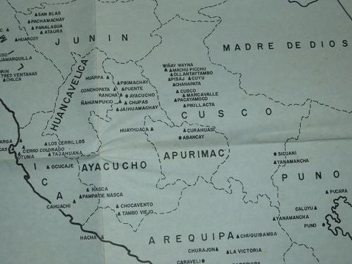 antiguo mapa arqueológico del perú historia ejército peruano
