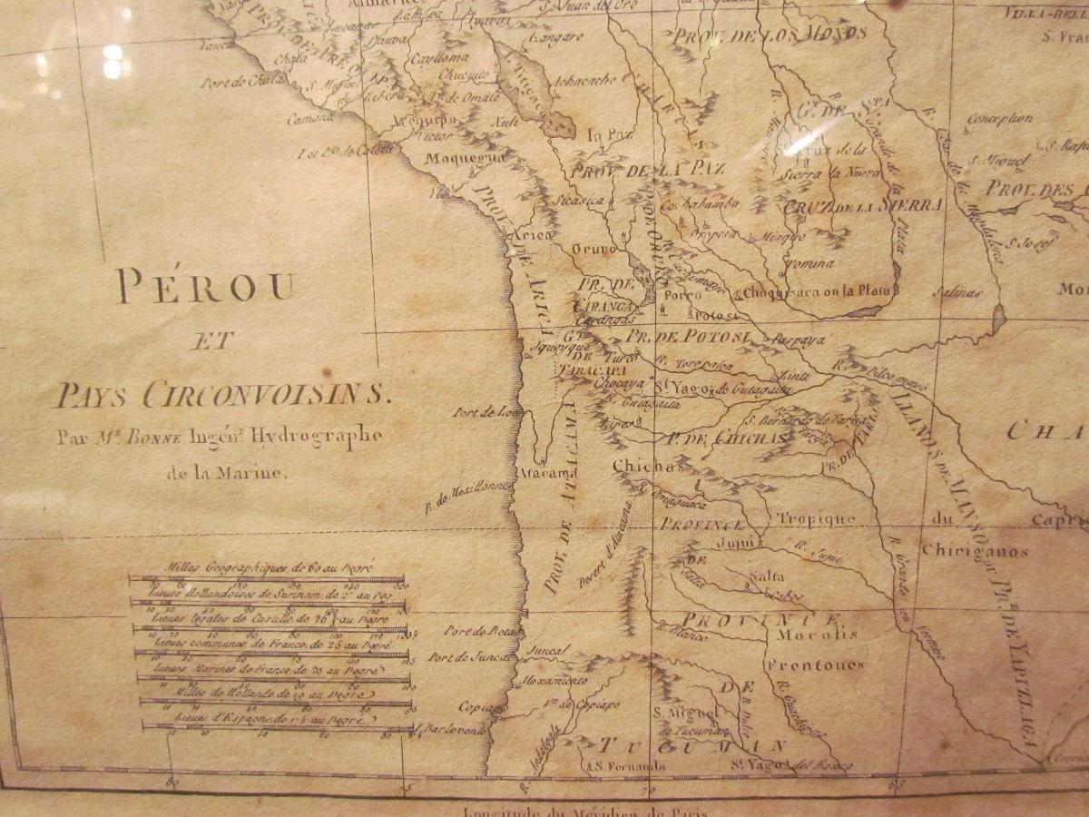 Antiguo Mapa Del Peru Y Chile Anterior A La Guerra Pacifico ...