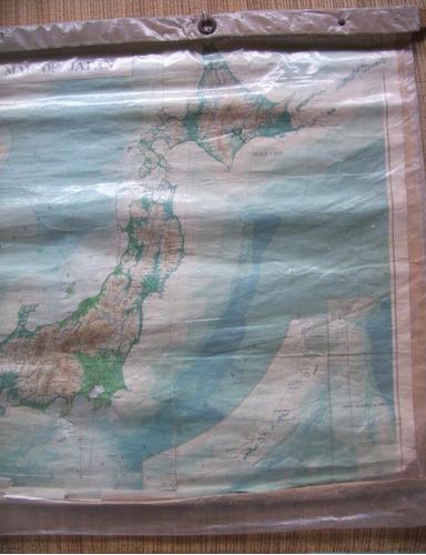 antiguo mapa mural japón ministerio asuntos extranjeros 1971