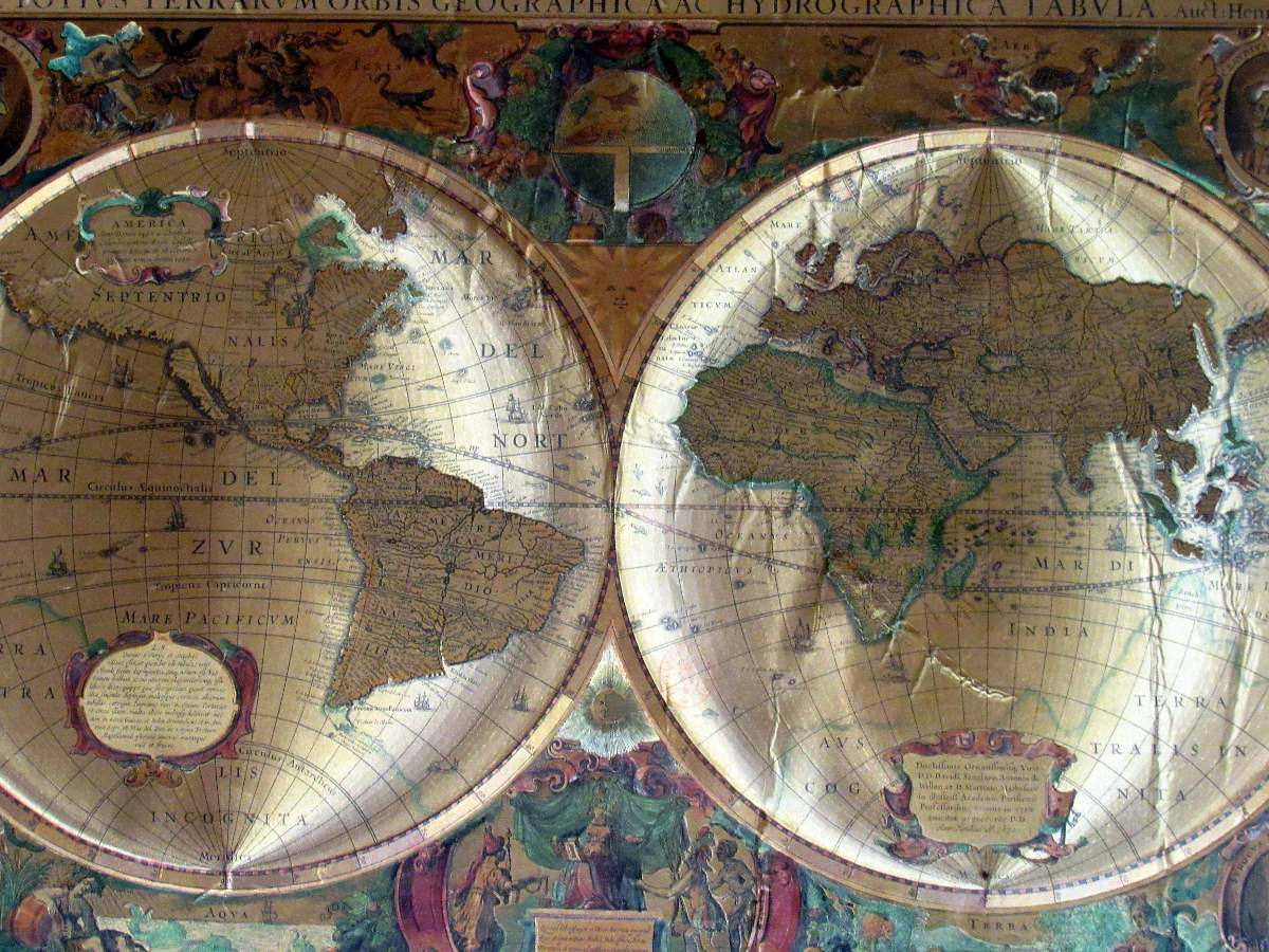 Vendo Planisferio Antiguo Oferta!! - Posters Mapas en Capital ...