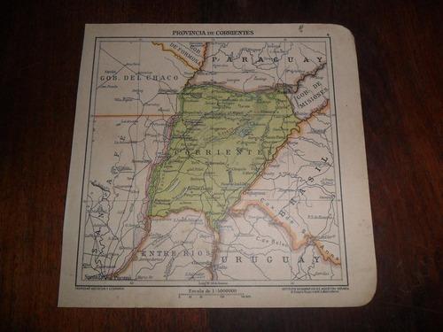 antiguo mapa plano 1918 c rossi m.boroli corrientes esquina