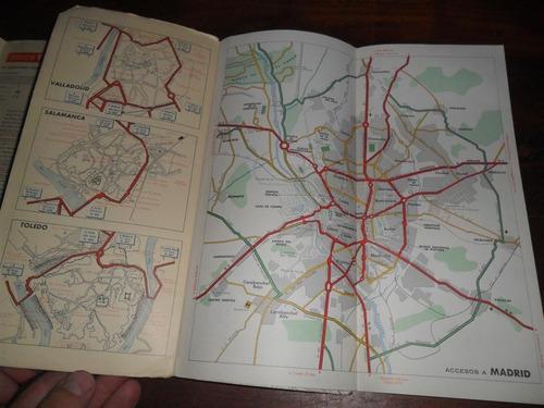 antiguo mapa plano firestone hispania 5 españa carretera