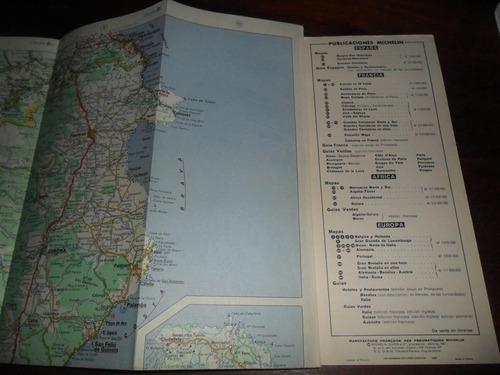 antiguo mapa plano juan michelin 43 zaragoza barcelona