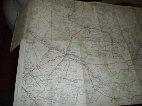 antiguo mapa plano juan michelin españa zaragoza barcelona