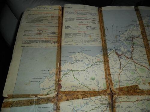 antiguo mapa plano juan michelin madrid straight-side talon