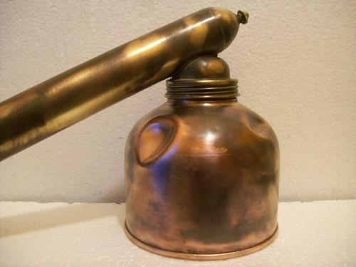 antiguo maquina de flit - fulmigadora en bronce y cobre