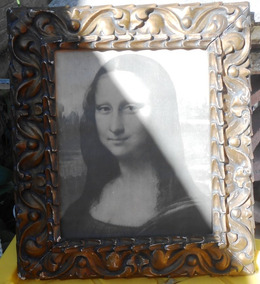 Espejos Trustful Bonito Antiguo Oval Marco De Fotos