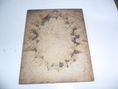 antiguo marco metal cuadro cuadrito vidrio oval mujer