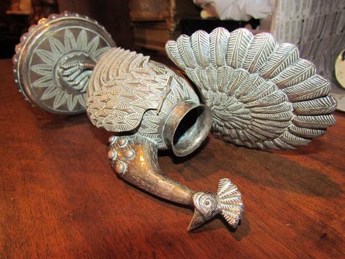 antiguo mate pava de plata repujada a mano c 1880 articulado