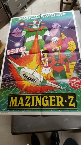 antiguo mazzinger afiche de cine original