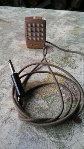 antiguo micrófono vintage metalico eicor de colección