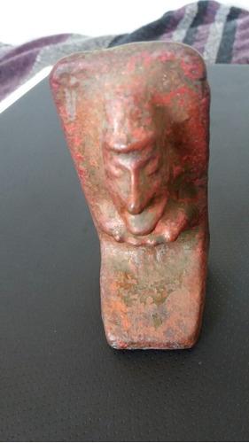 antiguo moai cobre solido chuquicamata (b2