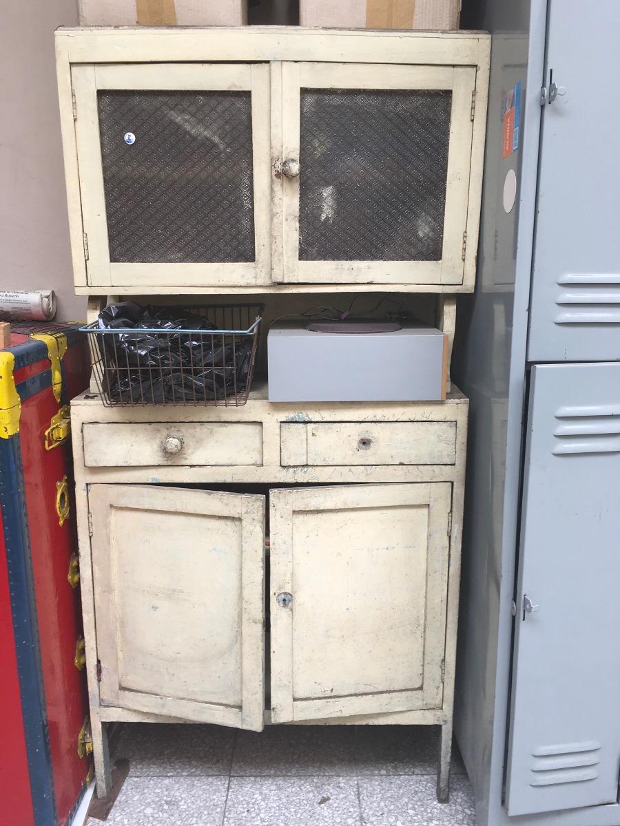 Antiguo Mueble De Cocina De Madera - $ 4.000,00