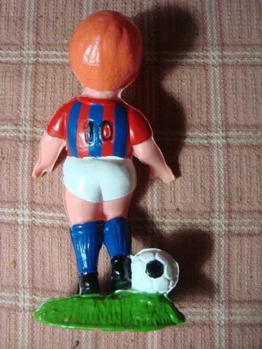 antiguo muñeco de san lorenzo futbol plástico inflado impeca