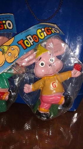 antiguo muñeco topo gigio en blister ep hijitus anteojito