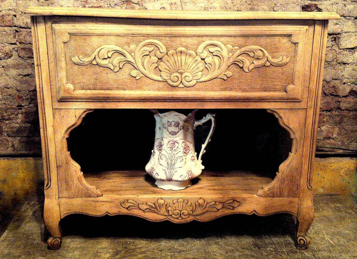 Antiguo Musiquero De Roble Tallado Lavado Ideal Vanitory  # Muebles Musiqueros Antiguos