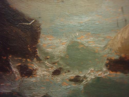 antiguo óleo sobre tabla firma alastair siglo xx