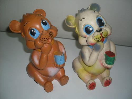 antiguo oso de jebe marca vinitoys de coleccion
