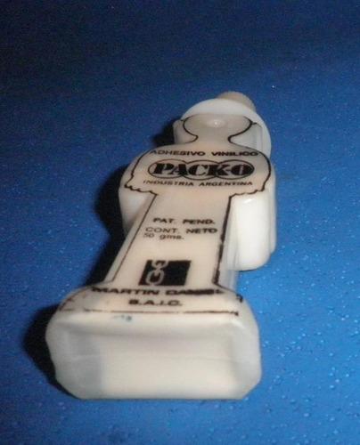 antiguo paco pega 1º envase original lleno muñeco publicidad