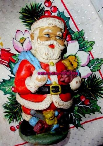 antiguo papa noel goma-navidad-arbolito-unico!coleccion