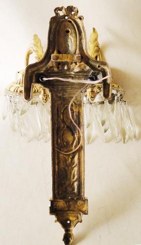 antiguo par de apliques franceses estilo imperio (1169)