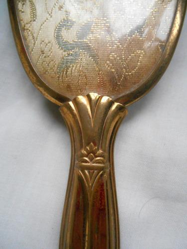 antiguo peine de metal dorado, hecho en usa