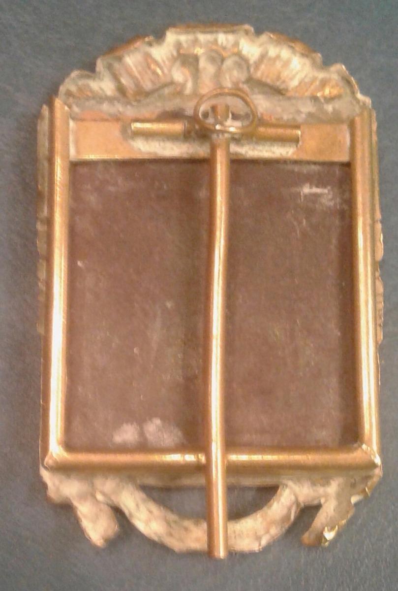 Antiguo Pequeño Marco Portaretrato Bronce Dorado Oro - $ 1.480,00 en ...