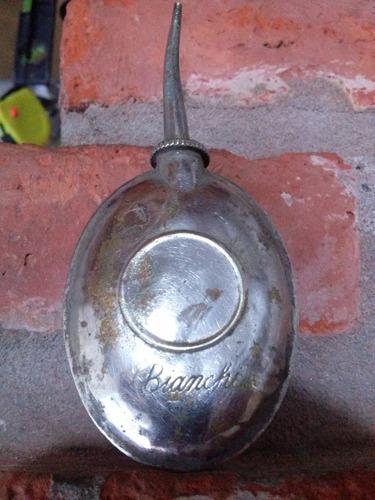 antiguo perfumero de metal para la cartera de la dama
