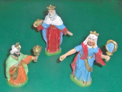 antiguo pesebre navidad 15 piezas sin el niño jesús olivos