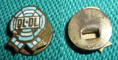antiguo pin distintivo peronismo escarapela dl - dl 1950s