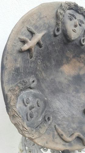 antiguo plato ceramica 1940 paraguay.