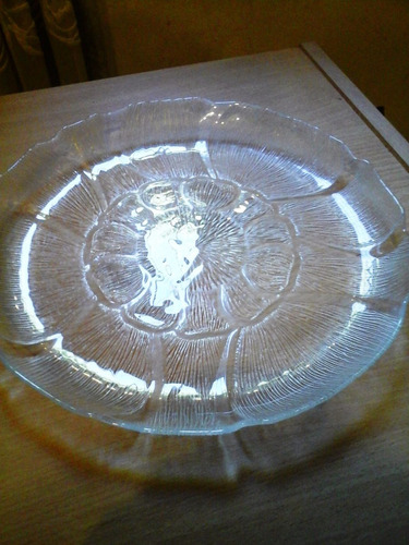 antiguo plato cristal diam 28cm impecable