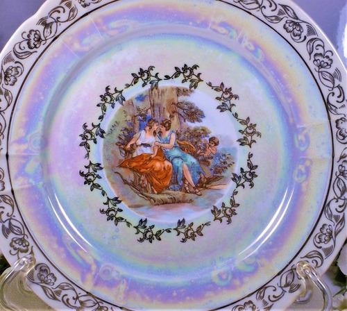 antiguo plato de porcelana alemán de 1937 o anterior